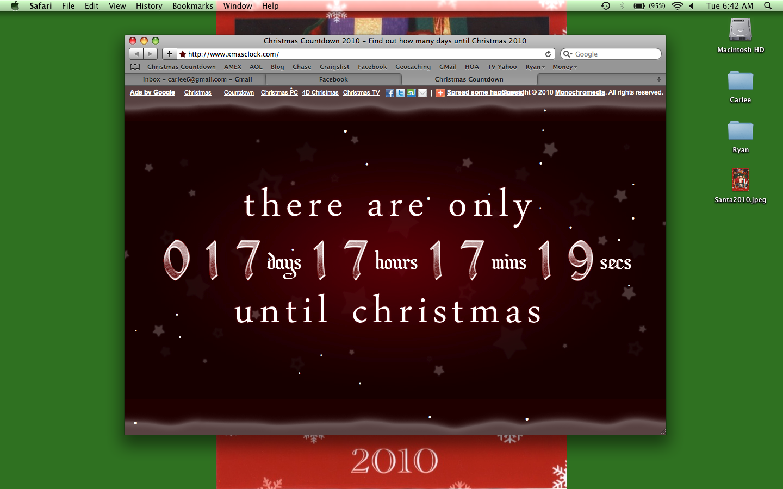 How Many Days Till Christmas Google.Carlee Mcdot 17 S
