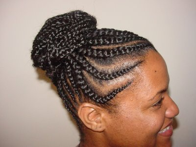Sensational Cornrow Updo Hairstyles Cornrow Celebrity Hairstyles Hairstyles For Men Maxibearus