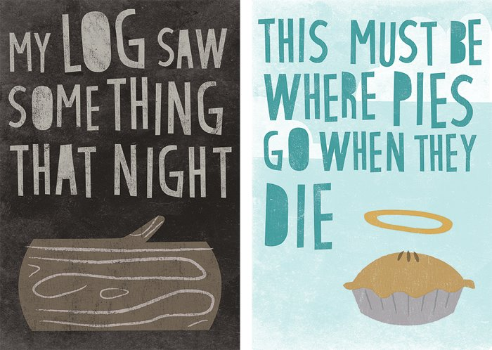 log and pie prints