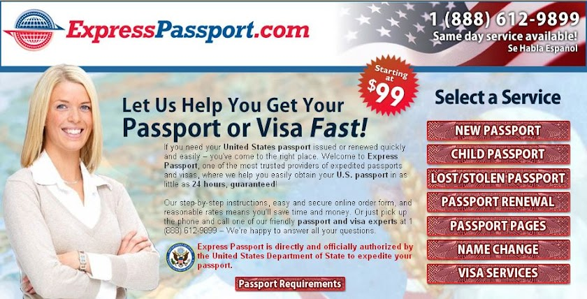 New Passport, Passport Renewal,Expedite Passport, Same Day Passport
