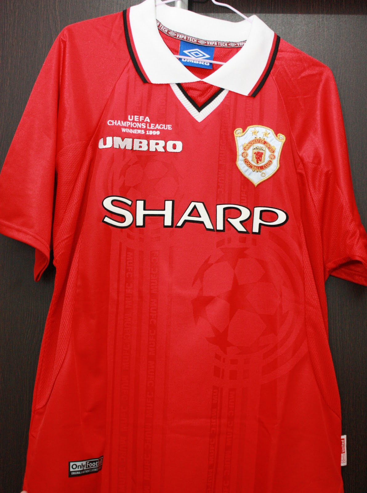 ecf157e7877 Manchester United 1999 Champions League Winners Jersey
