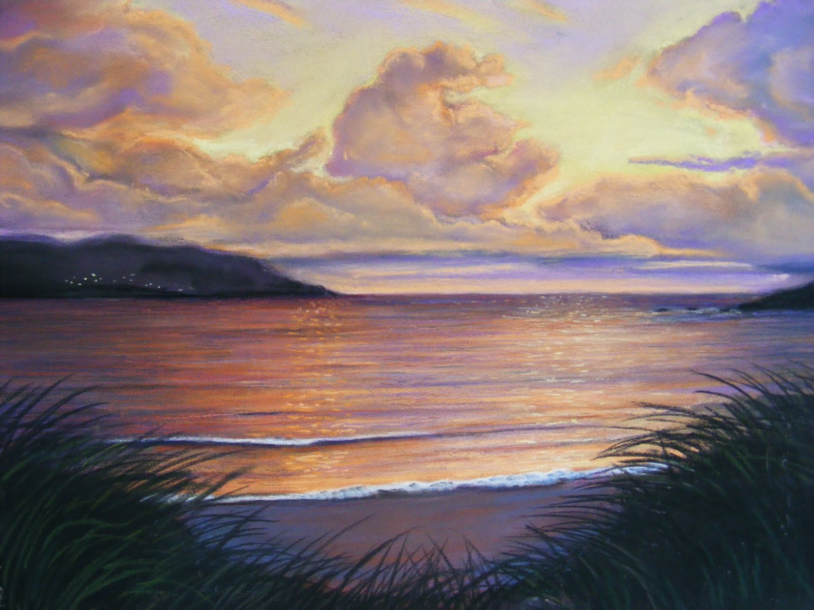 Soft Pastel Landscape Paintings