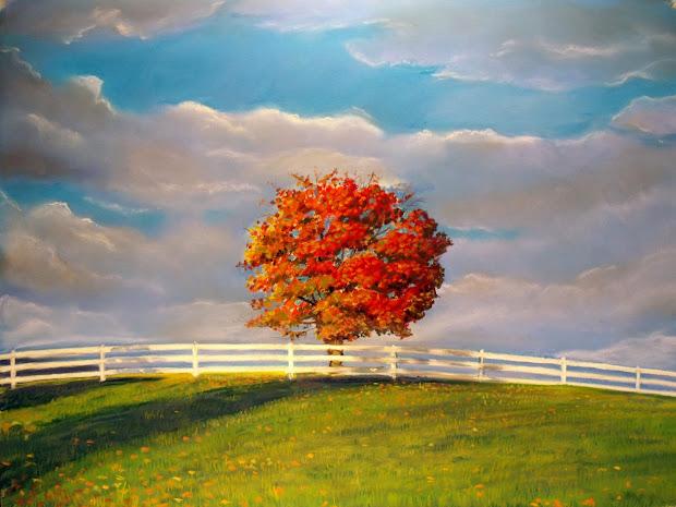 Soft Pastel Landscape Paintings