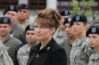 Palin with Troops