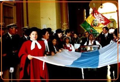 la verdadera bandera argentina