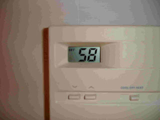 thermostat at 58