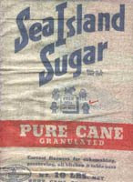 1935 Sea Island sugar doll feedsack