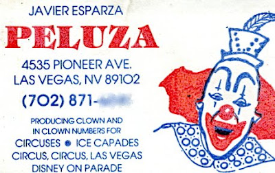 Pat cashins clownalley 7608 71308 i recently found this scan of one of peluzas business cards in my bulk mail folder where it has been sitting for weeks thanks to the hall family for colourmoves
