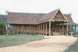 The replica of a 15th century Malaccan Palace that was built from scratch by a crew of builders and craftsmen from India.