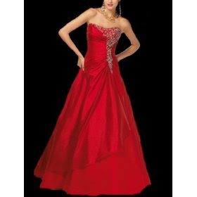 red a line bridesmaid dresses