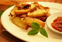 Baked Herby Potato Wedges by Anh