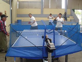 deportes de arequipa tenis de mesa presentaron robot