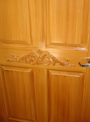 Once a normal whilte door. Click to view more wood finishes.