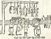 ...et les 10 fils d'Haman pendus au gibet