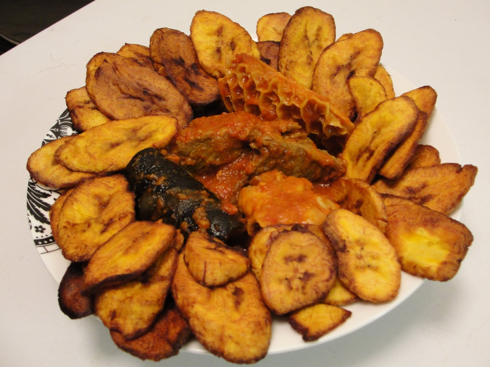 Modern African Cuisine Fried Plantain