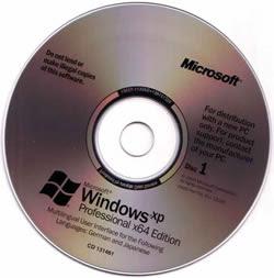 Windows XP 64 Bits Full SP2 (IE7 e MP11) WInstall