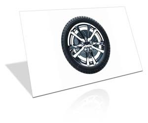 Deixe os pneus do carro tão pretos quanto quando foram comprados