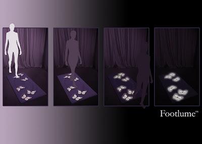 080325 foot lume 02%5B1%5D FootLume: Il tappeto fluorescente che vi illumina la notte