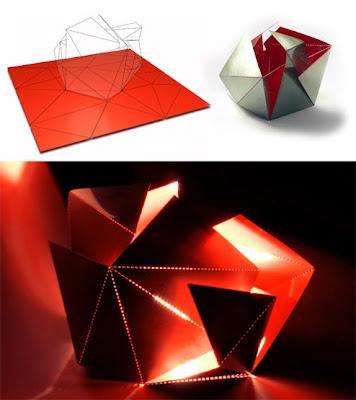 ... folding origami lamp Lampada e piantana fai da te con tecnica origami