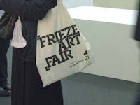 Visitor to Frieze Art Fair; photo by Val Phoenix