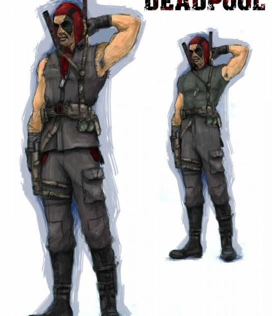 Deadpool Concept Art Wolverine