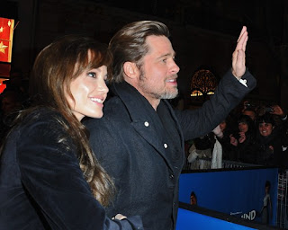 Brad Pitt and Angelina Jolie at the Paris premiere of