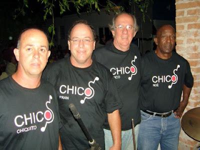 Grupo musical Chicos, da esquerda para direita: Chiquito, Fran, Chico e Noé