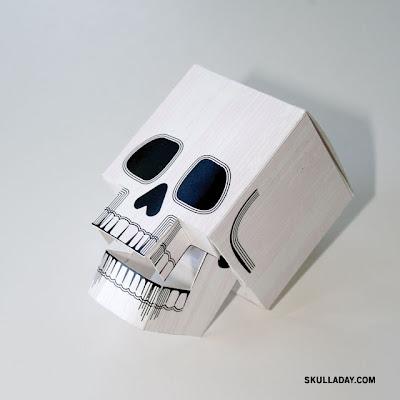 papercraft skull