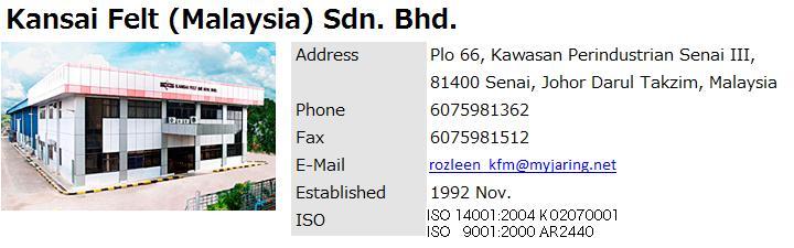 Kansai Felt M Sdn Bhd
