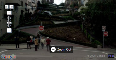 Streetview of Lombard Street