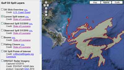 Maps Mania: Google Maps the Gulf Oil Spill