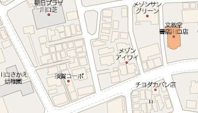 screenshot of google Maps in Japan