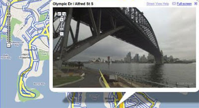 screenshot of sydney harbour bridge in street view