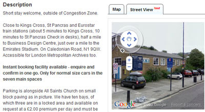 Maps Mania: Street View Added to ParkatmyHouse