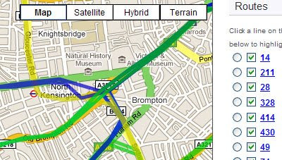 Maps Mania: London Buses on Google Maps on funny google directions, bing get directions, i need to get directions, google business card, get walking directions, google earth street view, maps and directions, google us time zones map, google mapquest,