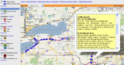 Ny State Map Google.Maps Mania New York Thruway Traffic Map