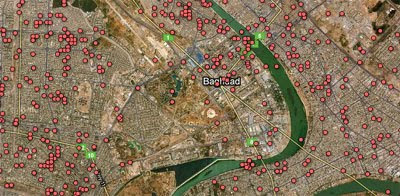 Maps Mania: Wikileaks Iraq War Logs on Google Maps