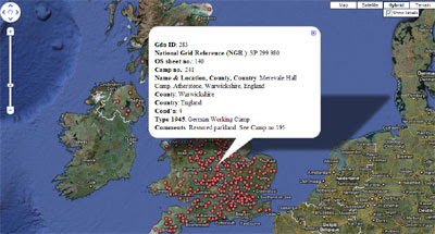 trend-minecraft: Prison of War Camps on Google Maps