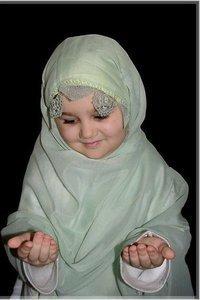 muslim baby boy making