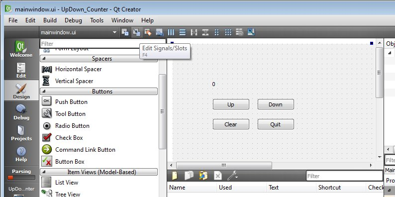 Qteveloper: Qt Creator 2.0 exercise: up/down counter - II ...