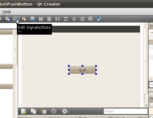 Qteveloper: A simple PushButton to quit, built as a Qt Gui ...