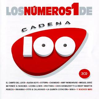 caratula frontal para ipod de Los Número 1 De Cadena 100 (2008)