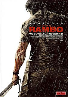 caratula frontal y slim de la película John Rambo