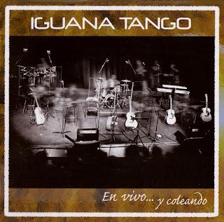 caratula frontal e ipod de Iguana Tango En vivo y Coleando