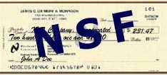 NSF+check Are You Waiting for a Check?