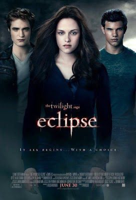 The Twilight Saga: Eclipse official film poster (featuring Kristen Stewart, Taylor Lautner, and Robert Pattinson)