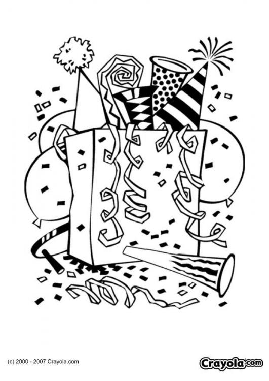 New Year Coloring Pages: June 2010