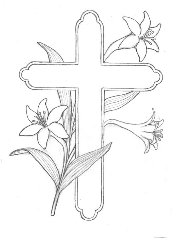 easter lily coloring pages - photo#4