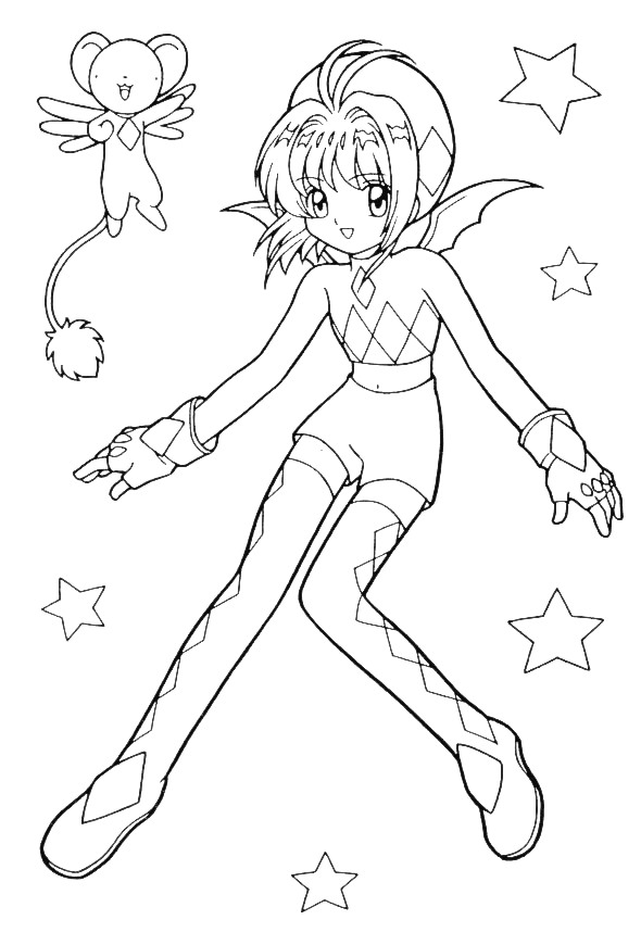 Valentines Day Coloring Pages: Anime Valentine Coloring