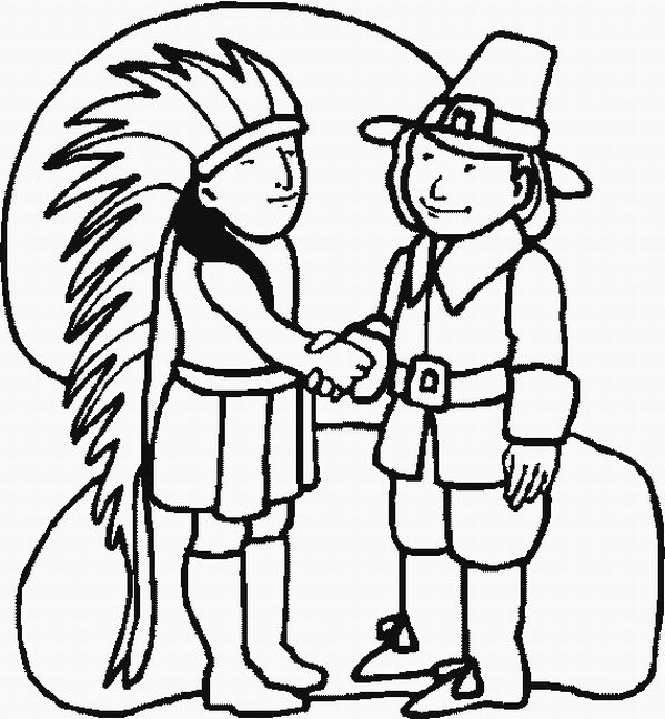 thanksgiving indian coloring pages printable - photo #5